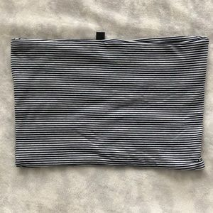 Topshop striped tube top
